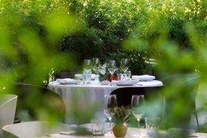 Mesa del jardín del alma